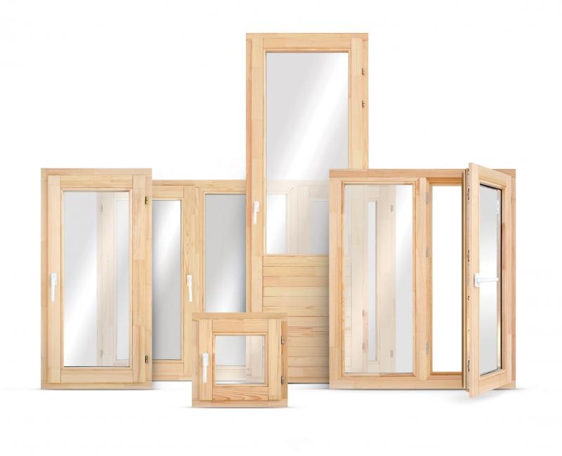 Деревянные окна 68 мм со стеклопакетом в наличии